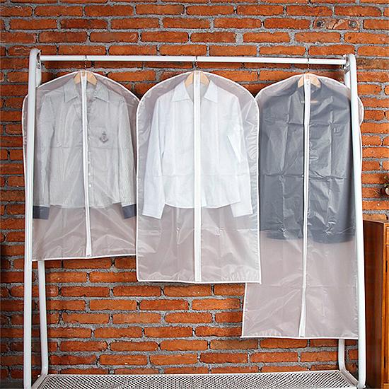防塵罩 套衣袋 防塵套防塵袋 中號 PEVA 西裝 可水洗 衣物收納 衣物防塵拉鍊袋【L057】慢思行