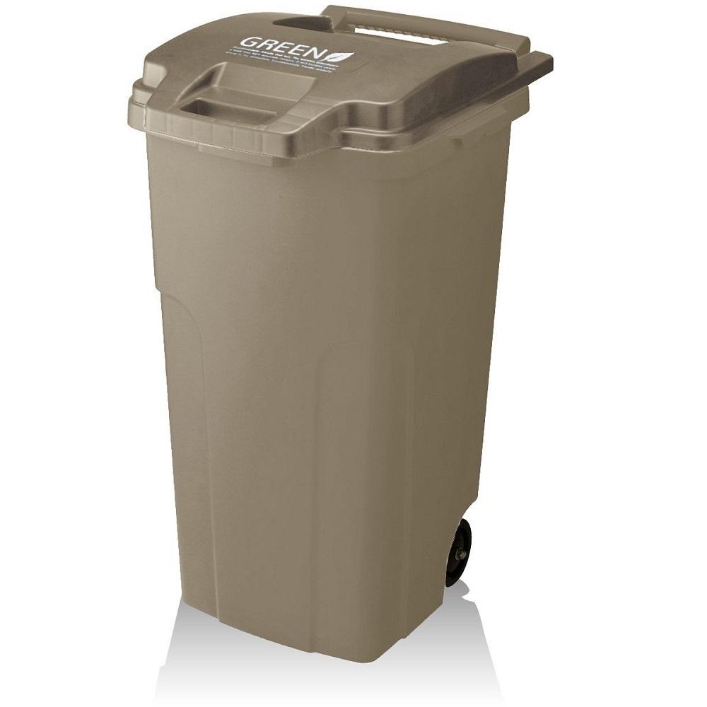 日本 RISU|GREEN戶外機能型連結式大容量垃圾桶 70L-二色