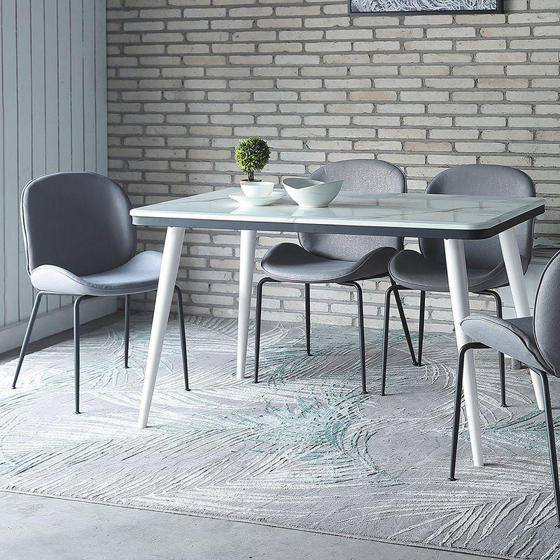 【YA741-3】查德白色餐桌
