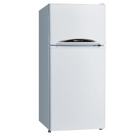 【台灣三洋SANLUX】128公升雙門風扇冰箱 /白(SR-C128B1)【預購】
