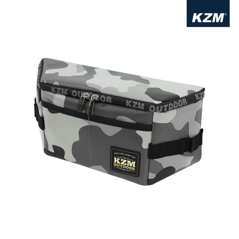 KAZMI KZM 多功能防水置物包(迷彩)(黑色)椅子置物包 側背包 防水置物包 釣魚 露營【露戰隊】