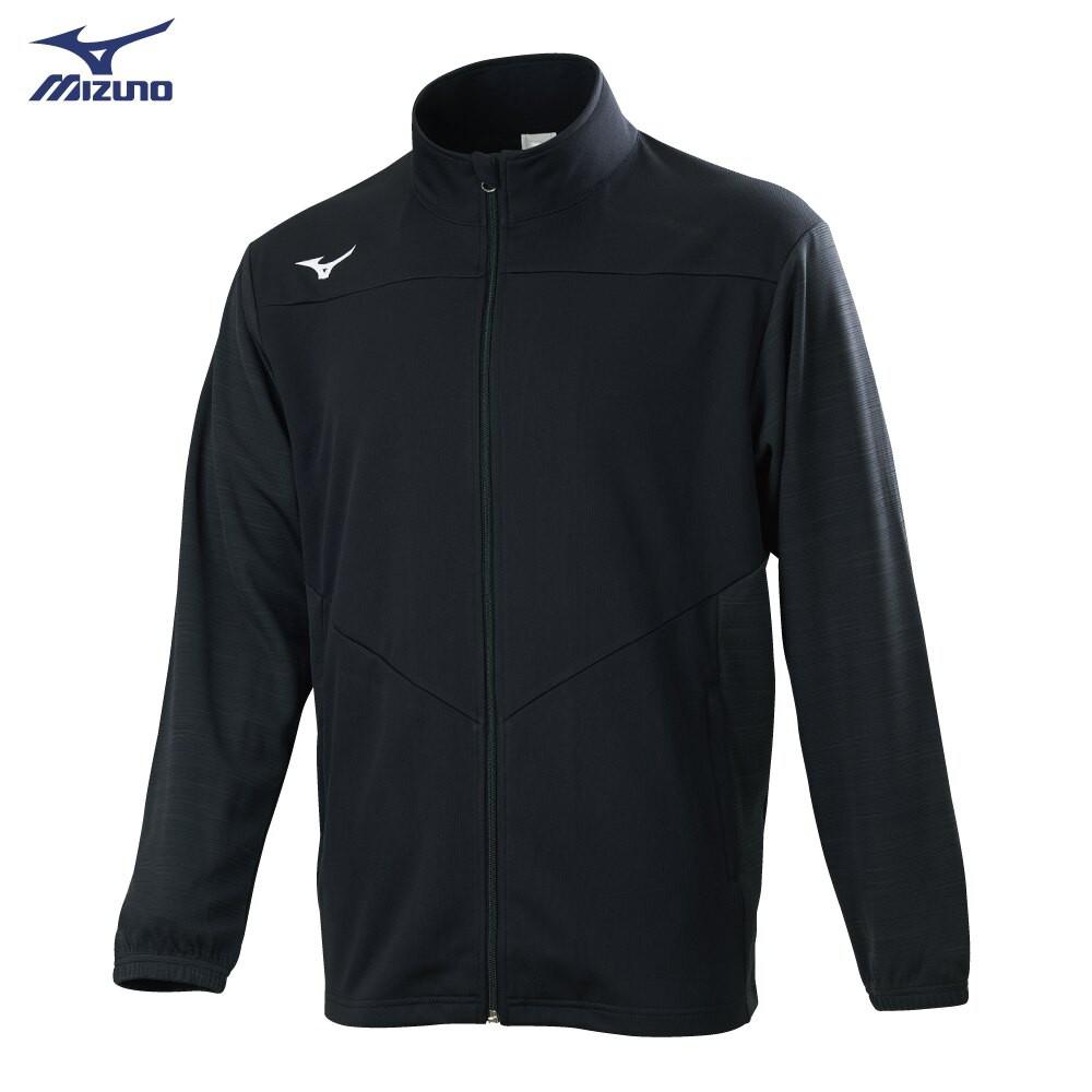 MIZUNO 男裝 外套 立領 針織 套裝 抗紫外線 吸汗快乾 黑【運動世界】32TC053399