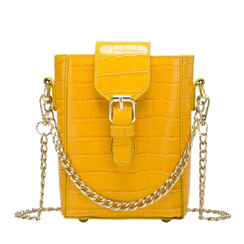 水桶包 Z 夏季水桶包包女新品潮夏天鍊條小清新百搭時尚斜挎包