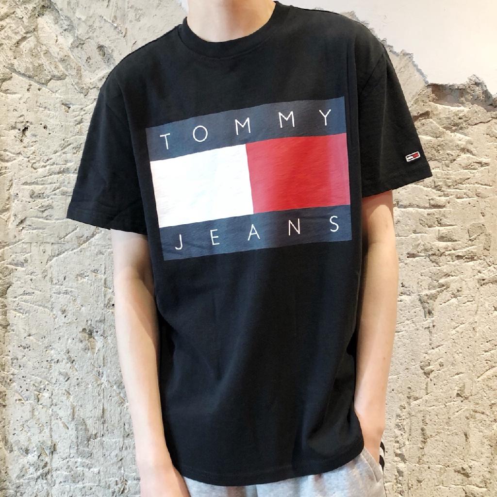 Tommy Hilfiger 美國代購 湯米 短袖t-shirt 男生 貼布 重磅 偏大 成人 經典 大logo 短t