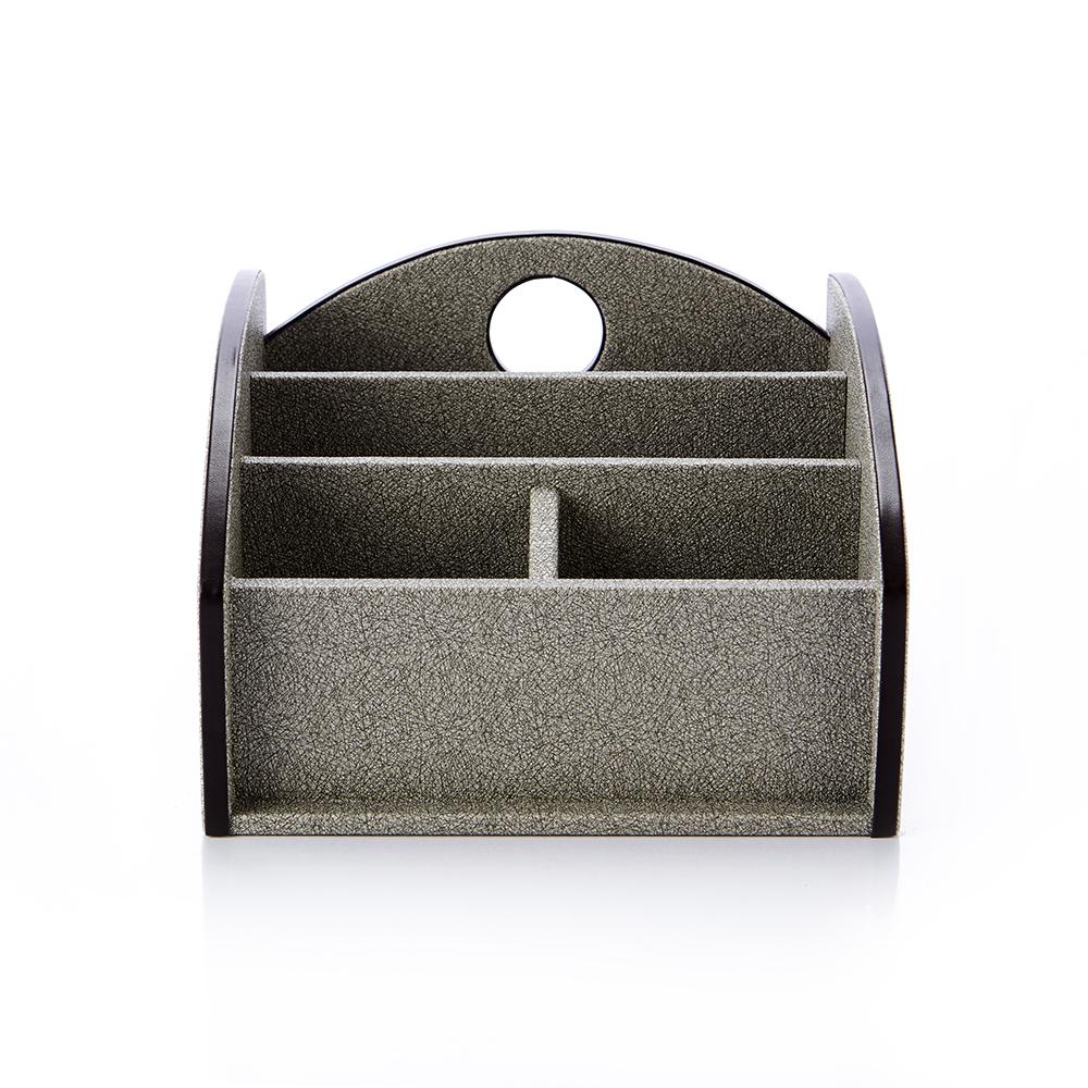 【Finara 費納拉】查爾斯-雙排多功能遙控器置物盒/桌上收納盒
