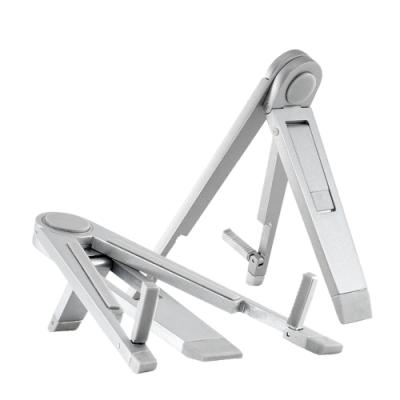 通用款 金屬 折疊式 桌面 三角 支架-銀色款-銀色*1
