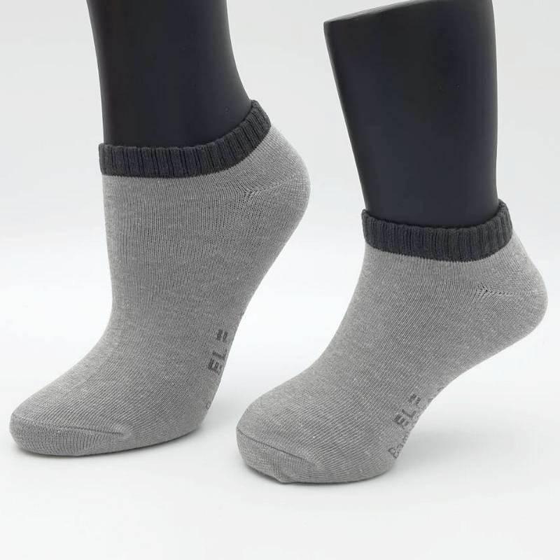 【促銷款】S5312 竹炭船形除臭襪 中灰 (大童成人女生通用)