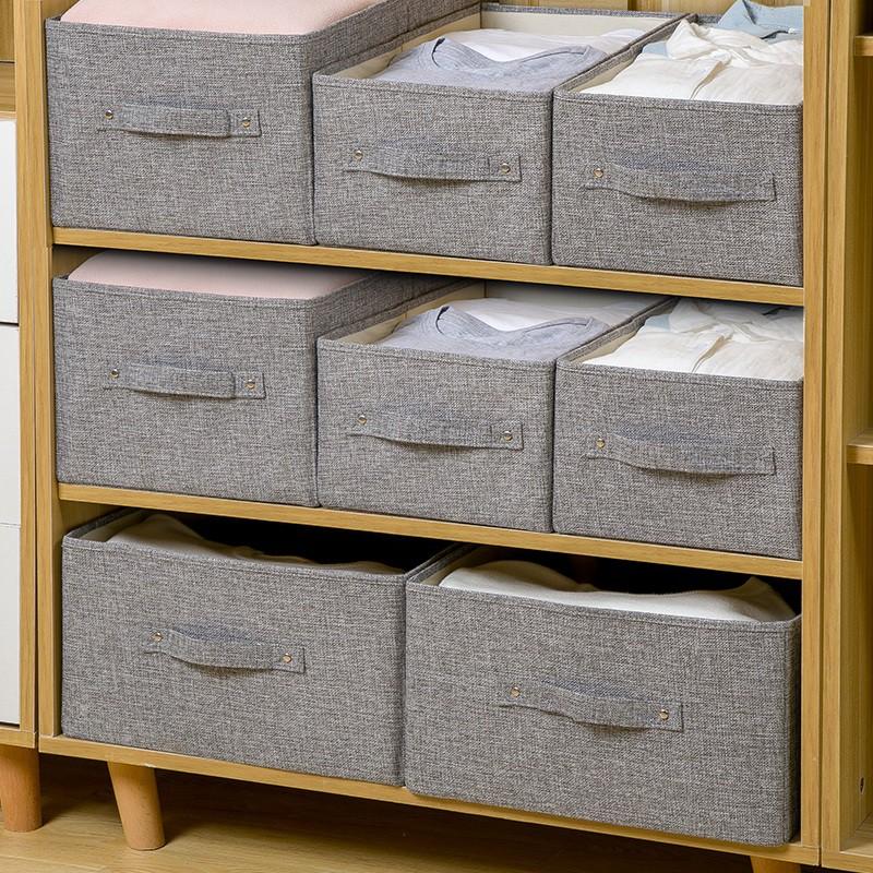 收納箱筐布藝衣物收納盒抽屜式衣柜衣服儲物箱子可折疊整理箱神器