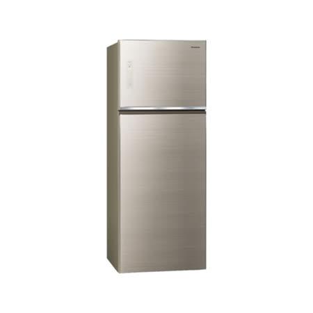 (含標準安裝)【Panasonic國際牌】485公升雙門變頻冰箱(翡翠金) NR-B489TG-N