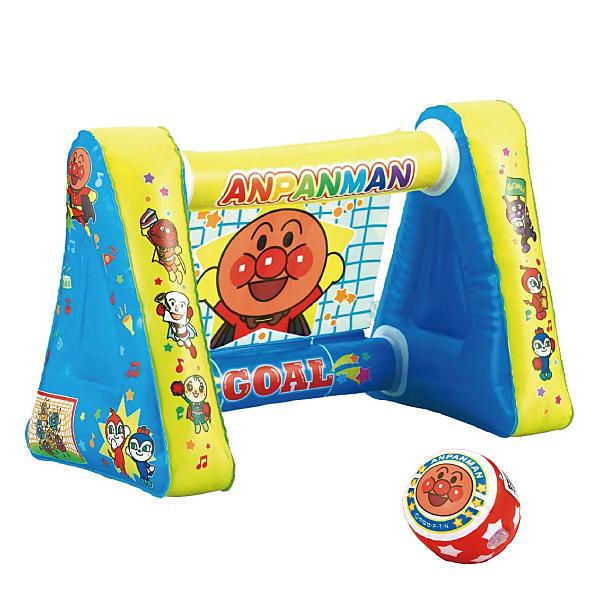 日本 麵包超人 充氣足球射門玩具
