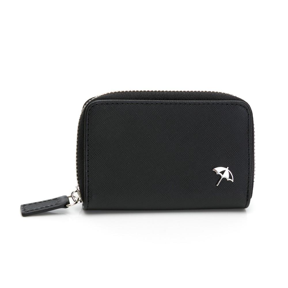 Arnold Palmer-零錢包 十字紋皮夾系列-黑色