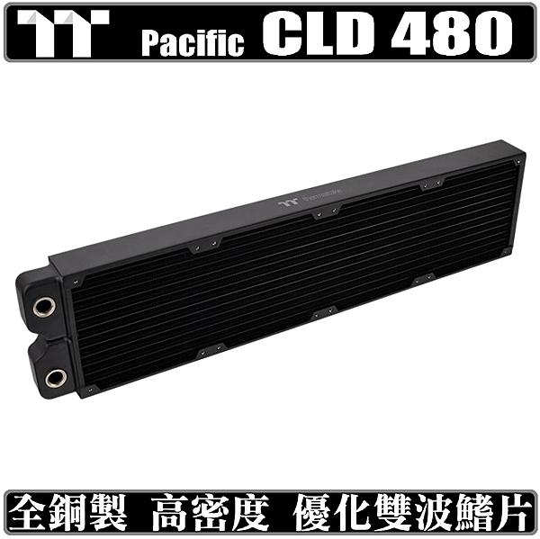 [地瓜球@] 曜越 thermaltake Pacific CLD480 全銅 水冷排 冷排 散熱排 雙波鰭片