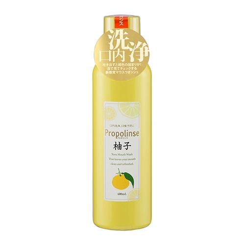 日本 Propolinse 柚子蜂膠漱口水(600ml)【小三美日】D247196
