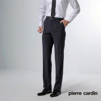 Pierre Cardin皮爾卡登  男裝 緹花暗紋平口西裝褲-丈青色(5187865-39)