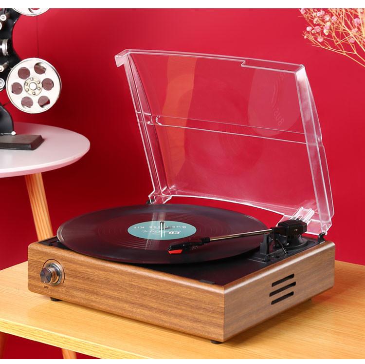 精選華攜 復古黑膠唱片機 黑膠機唱機仿古電唱機lp唱片客廳老式留聲機ytl