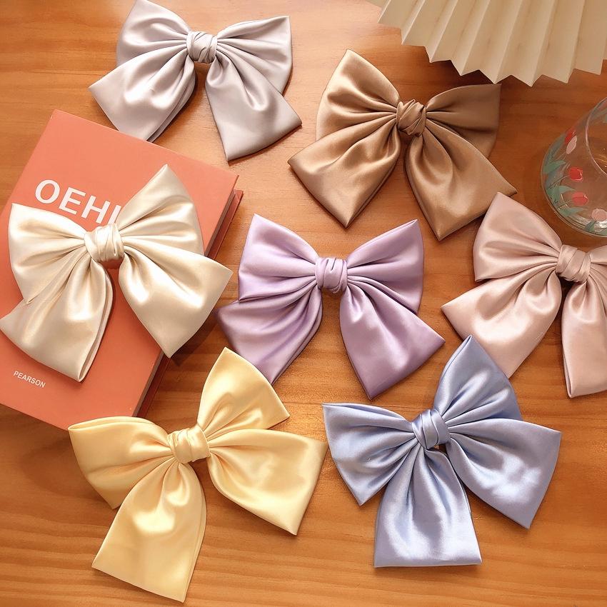 緞面蝴蝶結髮夾【DDFI】後腦勺夾 邊夾 甜美 少女 減齡 韓國新款髮飾 D2A02