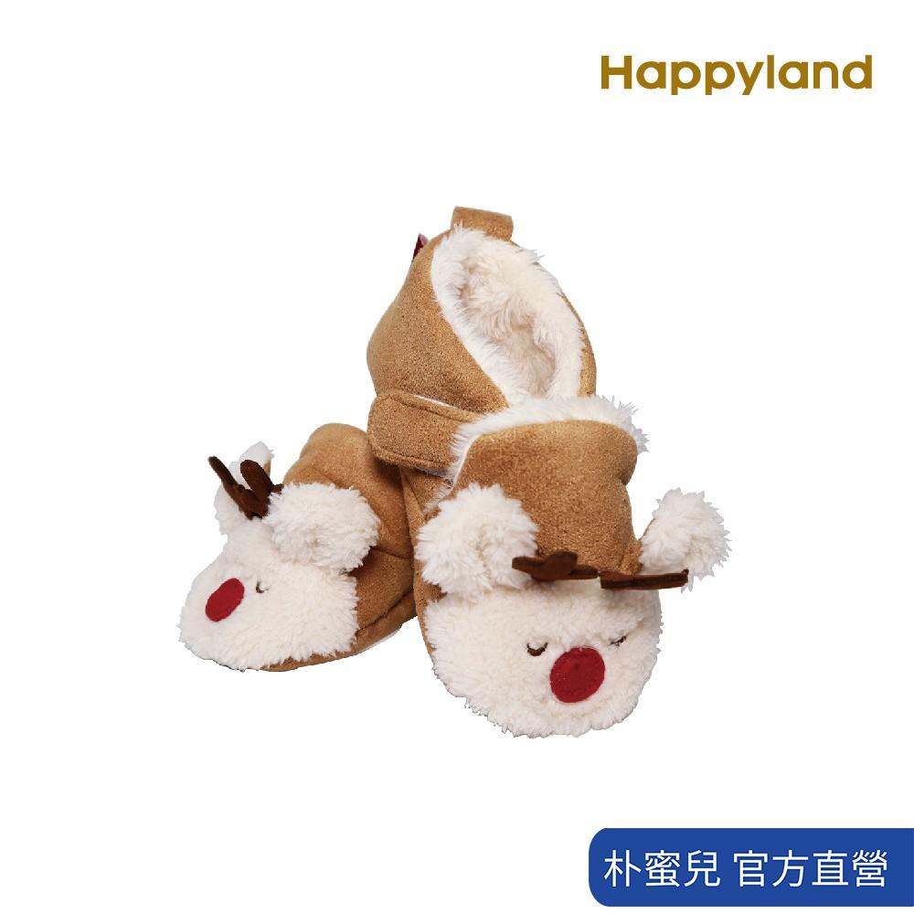 【韓國 HAPPYLAND】19FW童鞋 麋鹿麂皮室內學步鞋 (學步鞋、聖誕麋鹿童鞋、刷毛童鞋)