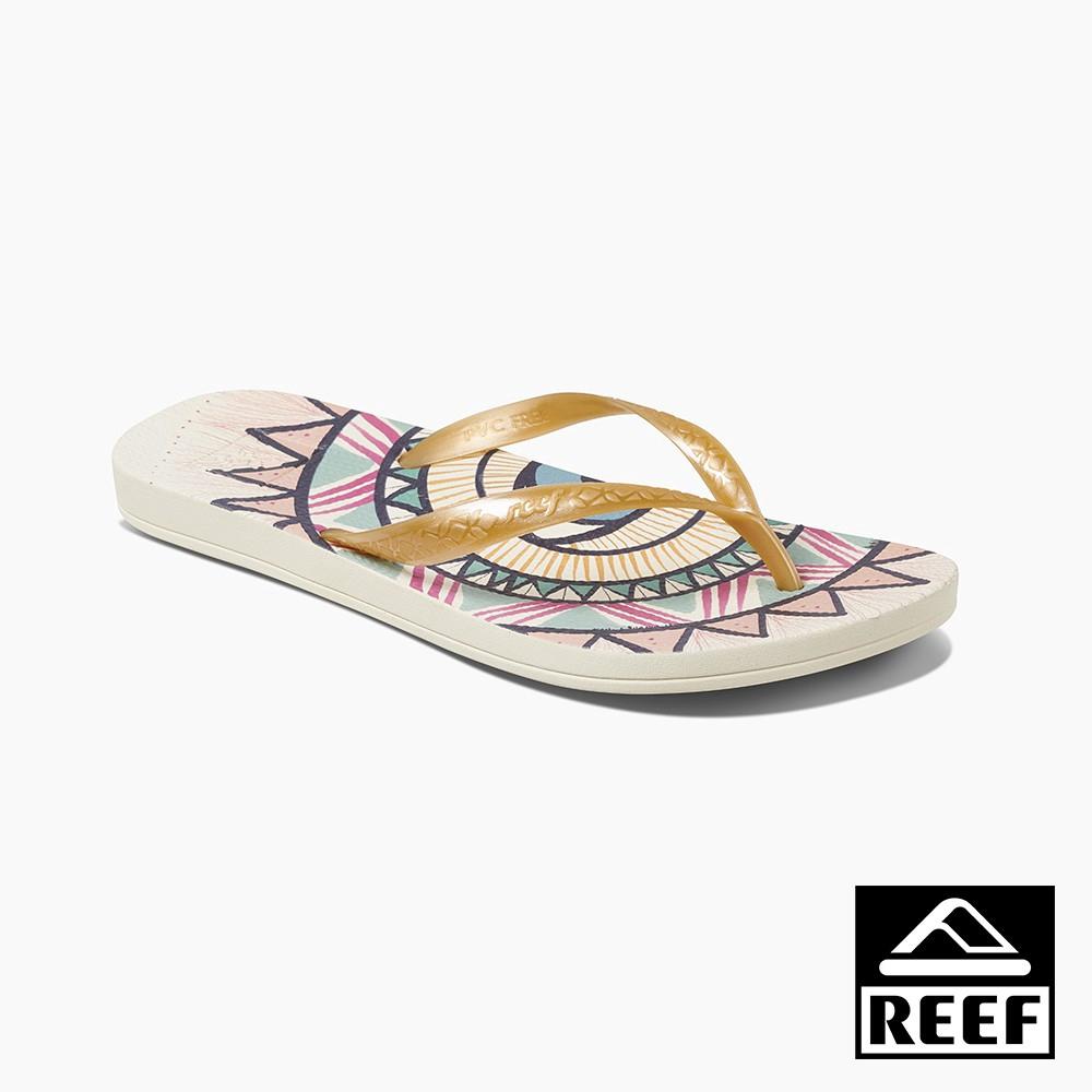 REEF ESCAPE系列 人體工學超Q彈橡膠女款夾腳人字拖鞋-陽光 RF0A3YOVSSN 廠商直送