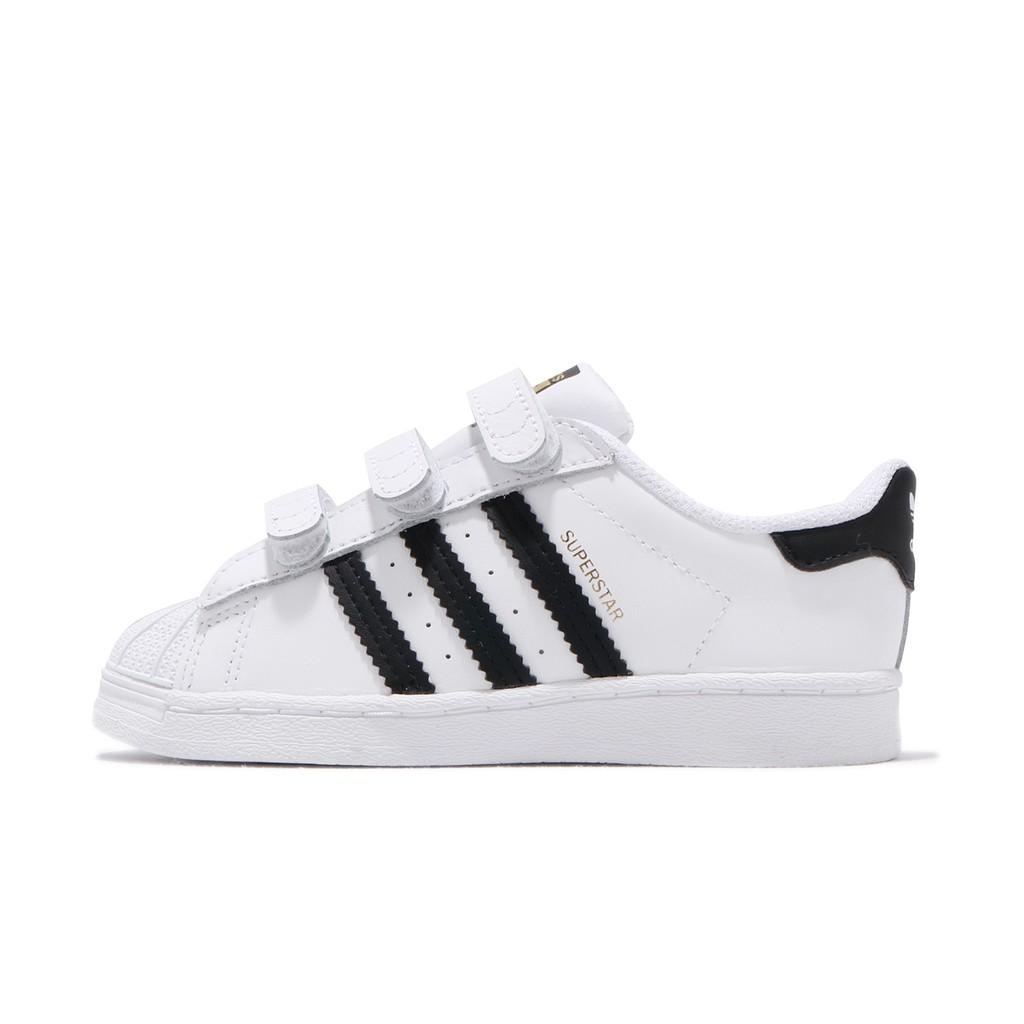 adidas 休閒鞋 Superstar CF I 運動鞋 魔鬼氈 白 黑 童鞋 小童鞋 EF4842 【ACS】