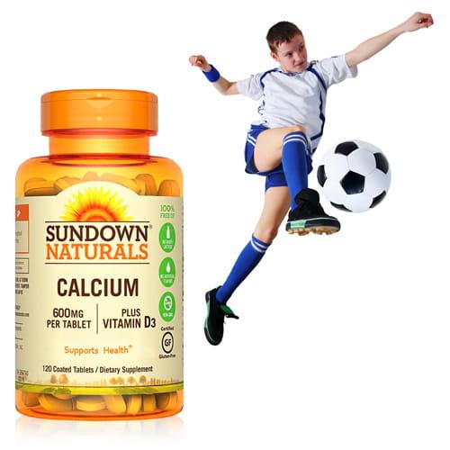 【美國Sundown日落恩賜】高單位鈣600mg PLUS D3加強錠(120錠/瓶)