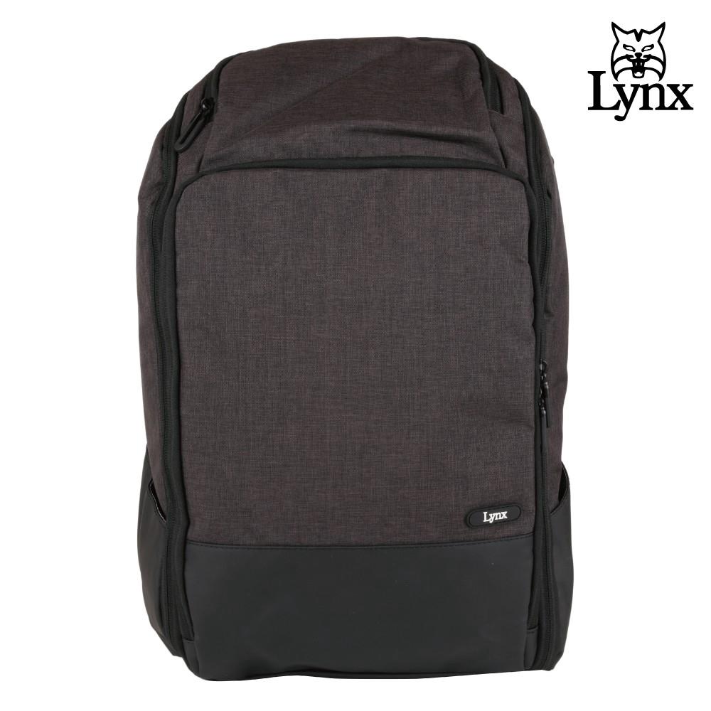 Lynx 美國山貓商務休閒多隔層機能後背包(黑色) LY39-2N65-99 廠商直送 現貨