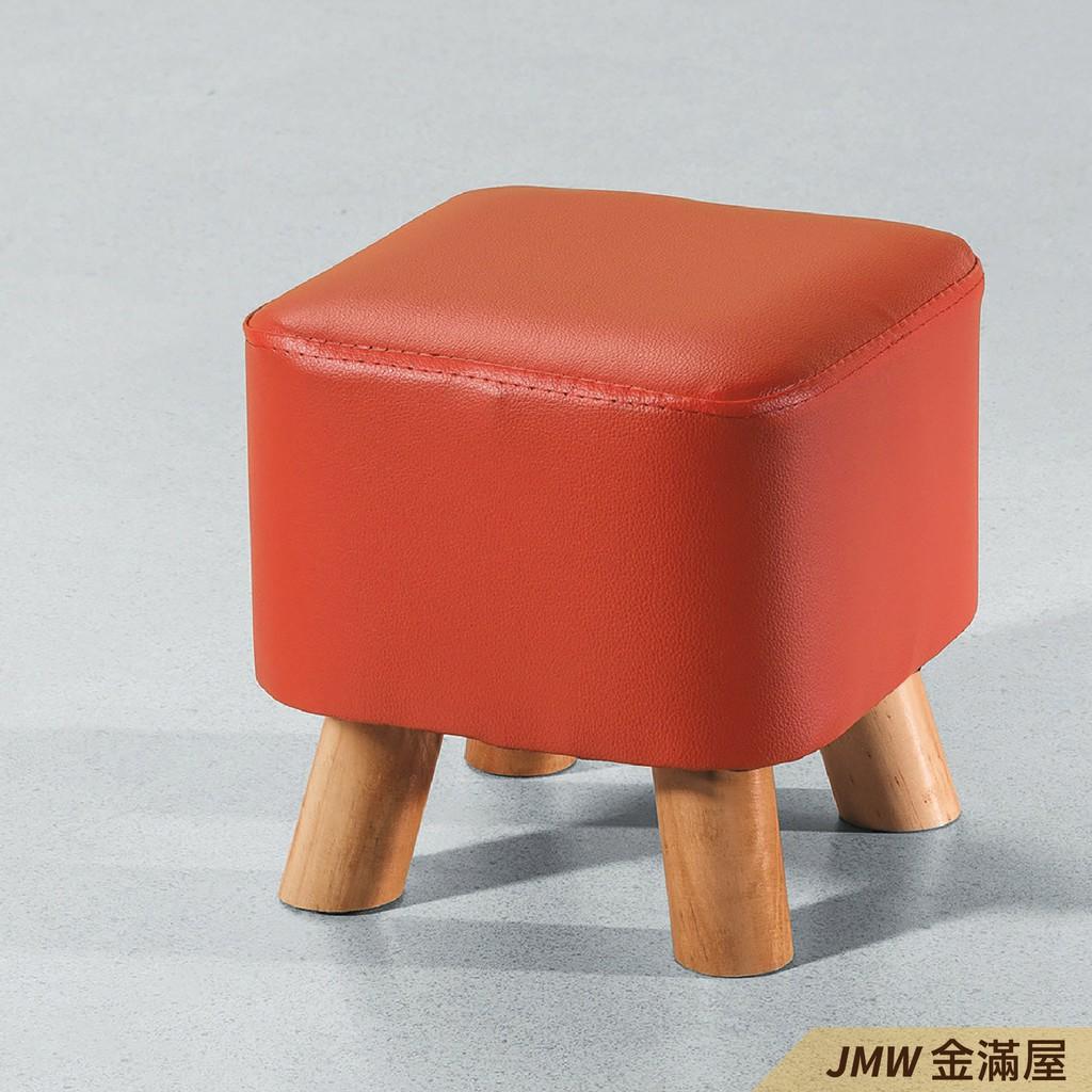 椅凳 穿鞋椅 皮腳凳 工作椅 化妝椅 圓凳 方椅 北歐風 絨布 貓抓皮【金滿屋】D325-2
