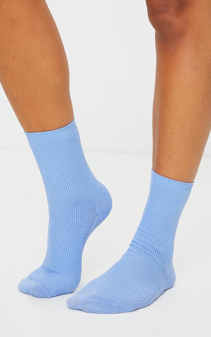 Baby Blue Sports Socks