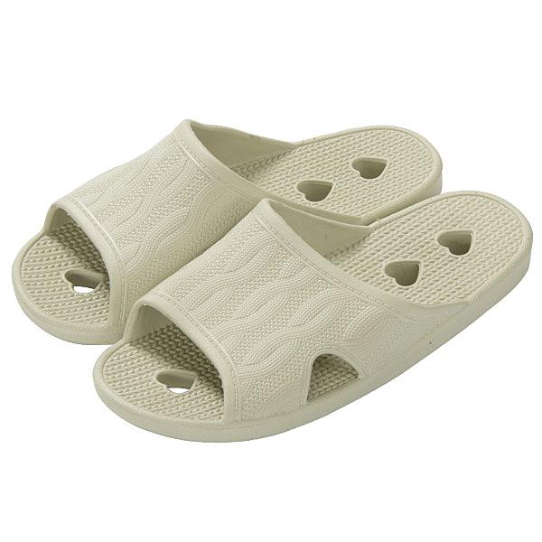 心型排水拖鞋 浴室拖鞋 TC603 BE 39-40 NITORI宜得利家居