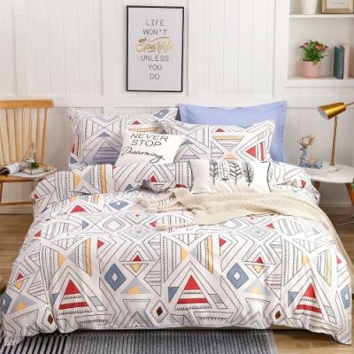 3-HO 雪紡棉 雙人加大床包/枕套 三件組-藝想時光