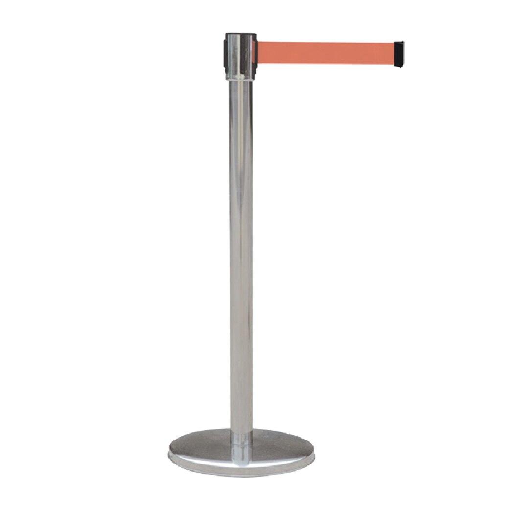 不鏽鋼伸縮圍欄 TC-100SA 伸縮圍欄 紅龍柱 4向伸縮圍欄柱 展場圍欄 排隊圍欄 排隊紅龍 織帶可選色