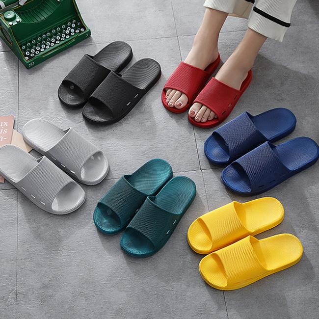 FOFU-一字拖鞋韓版時尚情侶糖果色家用家居防滑室內拖鞋【02S12378】