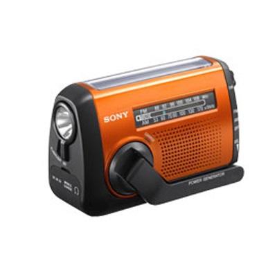 展示出清~ SONY 急難救助專用收音機 ICF-B88 可手搖、太陽能、USB 方式充電 LED 照明