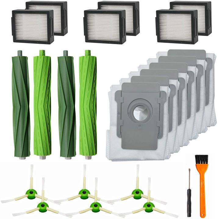 【美國代購】RONGJU用於iRobot Roomba i7 i7 + / i7 Plus E5 E6吸塵器的20件更換零件