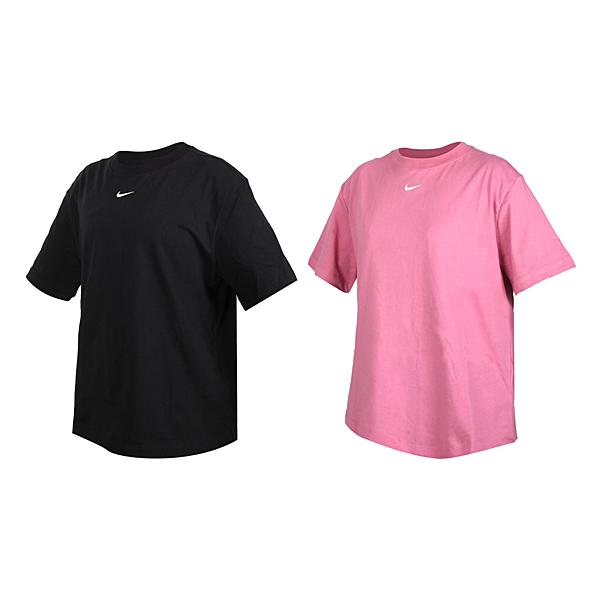 NIKE 女短袖T恤(純棉 休閒 慢跑 上衣 寬版 圓領 棉質 免運 ≡排汗專家≡