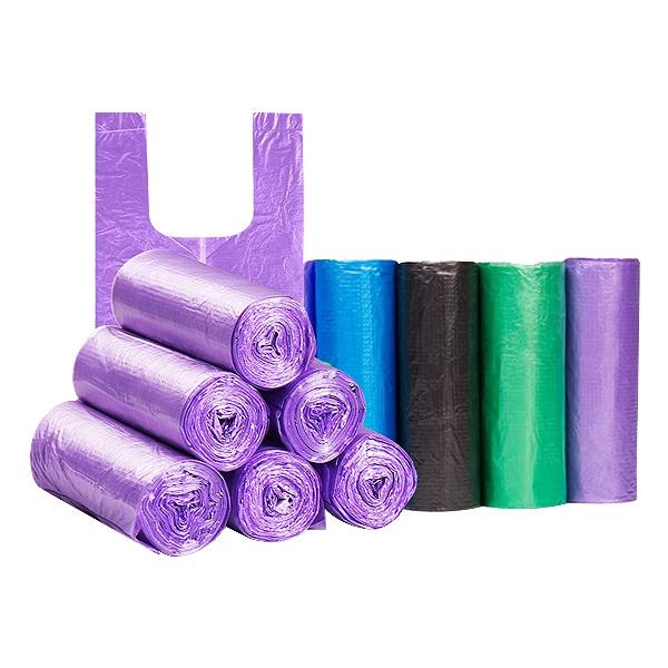 輕量手提式背心塑膠袋/垃圾袋(20入x5捲) 顏色隨機出貨【小三美日】D021493