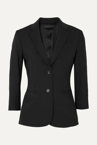 The Row - Schoolboy 弹力羊毛混纺绉纱西装式外套 - 黑色 - US12