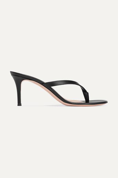 Gianvito Rossi - Calypso 70 皮革凉鞋 - 黑色 - IT34