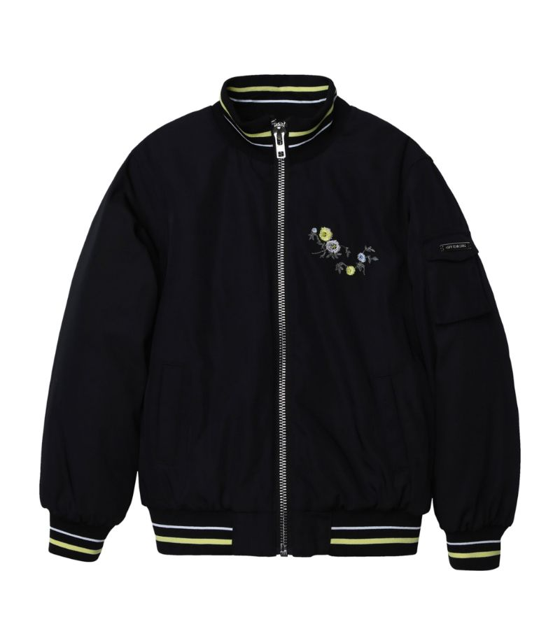 Givenchy Kids Embroidered Floral Logo Bomber Jacket (4-14 Years)