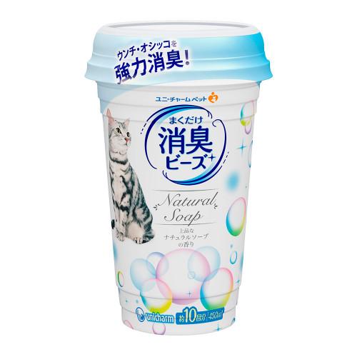 Unicharm Pet貓盆消臭粒-天然沐浴 450ml/罐