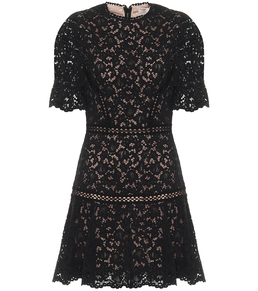 Holly floral-lace minidress