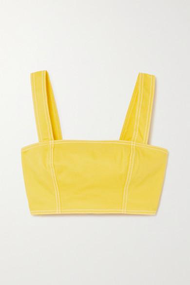Balmain - 短款牛仔上衣 - 黄色 - FR34
