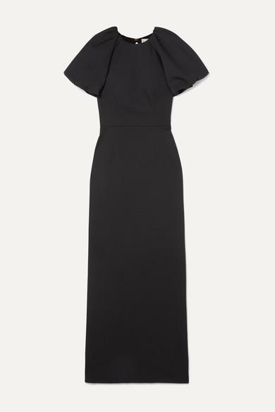 Rebecca Vallance - Winslow 露背泡泡纱礼服 - 黑色 - UK6