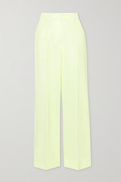 3.1 Phillip Lim - 双色斜纹布长裤 - 淡黄色 - US0