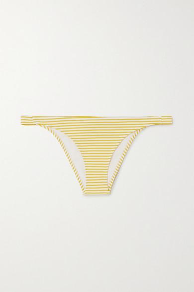 Evarae - Nephele 条纹泡泡纱比基尼三角裤 - 黄色 - small