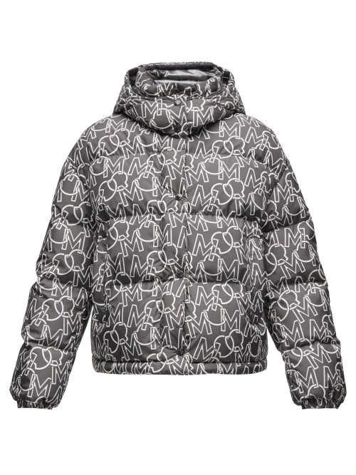 Moncler - Daos Logo-print Quilted Down Jacket - Womens - Black White