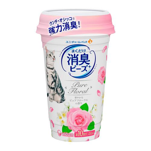 Unicharm Pet貓盆消臭粒-純淨花香 450ml/罐