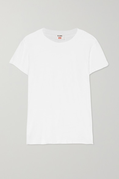 """RE/DONE - X Hanes """"1960s"""" 纯棉平纹布 T 恤 - 白色 - small"""