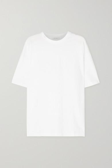 Ninety Percent - 【net Sustain】faye 大廓形有机纯棉平纹布 T 恤 - 白色 - large