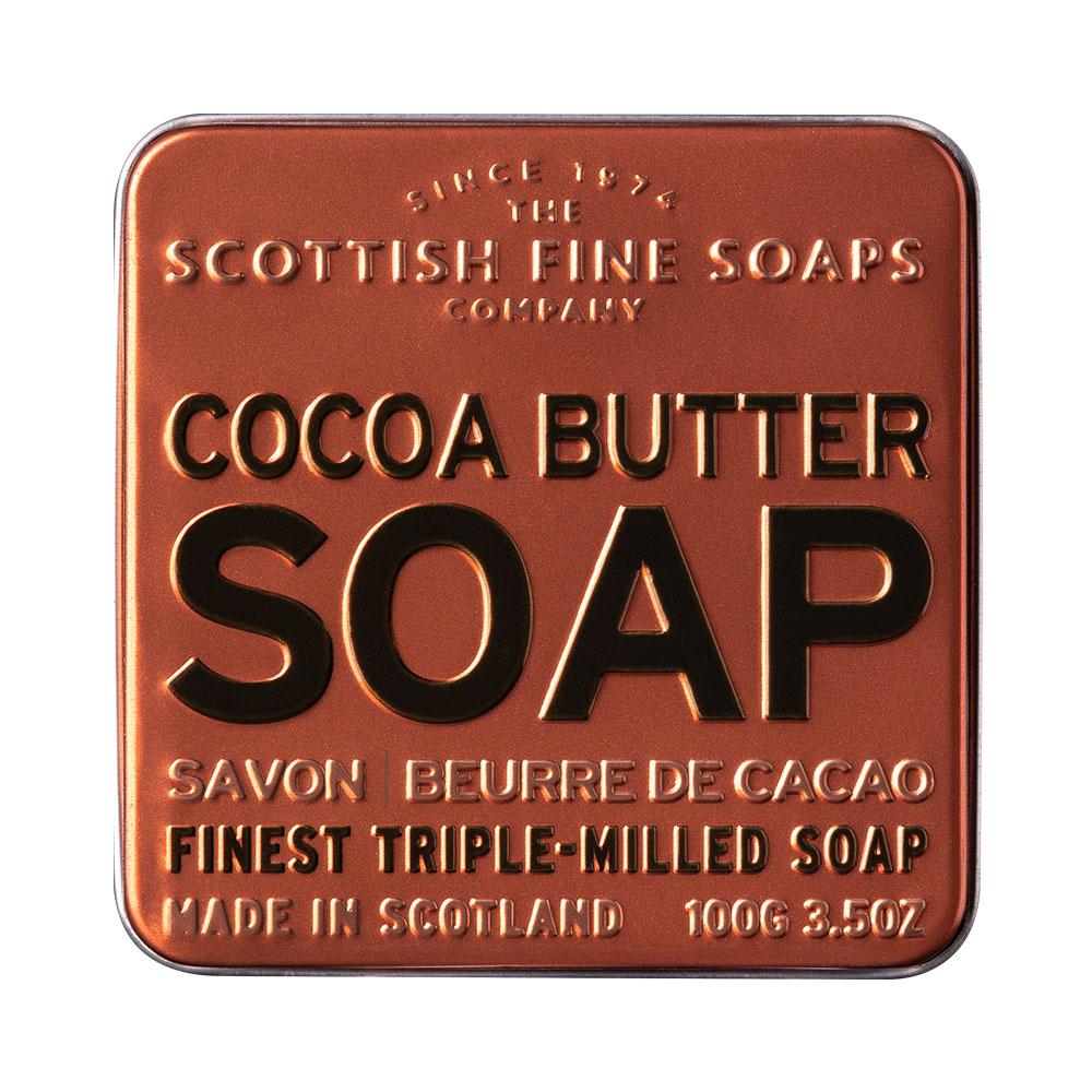 蘇格蘭泡泡 可可潤膚鐵盒香氛皂 100g
