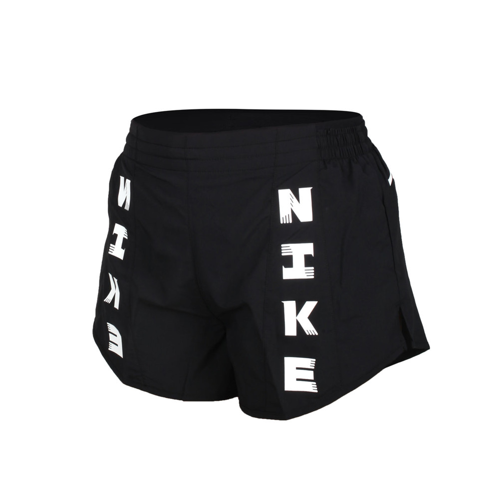 nike 女運動短褲-平織 慢跑 路跑 訓練 重訓 瑜珈 三分褲 dri-fit 黑白